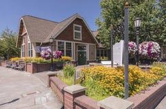 Klein bibliotheekhuis in MT Angel Oregon Stock Afbeeldingen