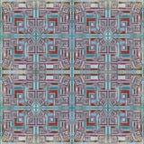 Klein blauw en rood vierkanten geometrisch achtergrond vectorillustratie grunge effect Stock Afbeeldingen