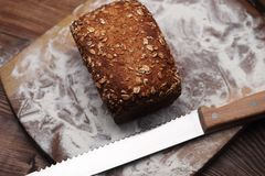 Klein brood op de bodem royalty-vrije stock foto's