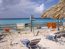 Klein Curacao, liten ö av kusten av Curacao Arkivbild
