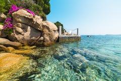 Klein dok in Capriccioli royalty-vrije stock foto's