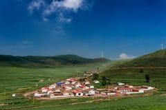 Klein dorp in China Stock Foto
