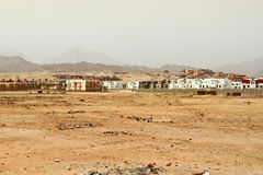 Klein dorp in Sinai bergen Stock Afbeeldingen