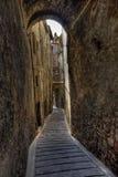 Klein dorp in Toscanië Stock Foto