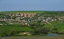 Klein dorpslandschap. Stock Foto