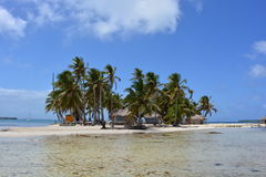 Klein eiland in de archipel van San Blas, Panamà ¡ Stock Foto's