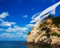 klein eiland in Griekenland, Zakynthos royalty-vrije stock foto's