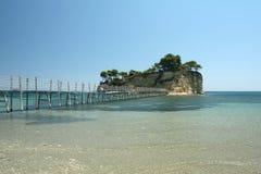 Klein eiland in Laganas in Zakynthos, Griekenland Royalty-vrije Stock Foto's