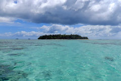 Klein eiland van de kust van Tongatapu-eiland in Tonga Royalty-vrije Stock Foto