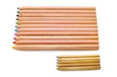 Klein en groot potlood stock foto