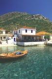 klein Grieks restaurant in Pilion, Griekenland royalty-vrije stock foto