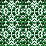 Klein groen gekleurd pixel mooi abstract geometrisch naadloos patroon als achtergrond Royalty-vrije Stock Fotografie