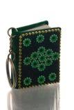 Klein groen sleutelringsboek Royalty-vrije Stock Afbeelding