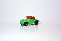 Klein Groen Toy Military Jeep Royalty-vrije Stock Afbeeldingen