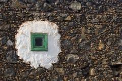 Klein groen venster Royalty-vrije Stock Afbeeldingen