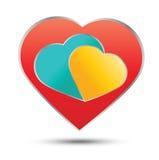 Klein hart in groot hartconcept Stock Fotografie