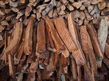 Klein holzt Holz für Brennholz im Einheimischen von Thailand ab Lizenzfreies Stockfoto