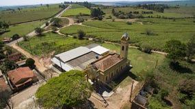 Klein Katholiek kerk Victoriaans, gemeentelijk district van Botucatu stock foto