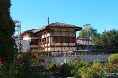 Klein Khan Mosque in Bakhchisaray-Paleis stock foto