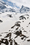 Klein Matterhorn across snowfields Stock Photos