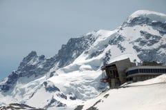 Klein Matterhorn cable car. Station at Trockener Steg Royalty Free Stock Images