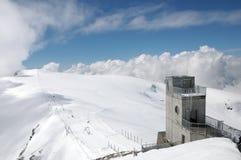 Klein Matterhorn cable car station Stock Photo
