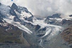 Klein Matterhorn and Theodul Glacier Royalty Free Stock Photography
