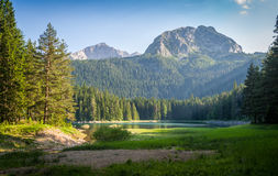Klein meer in het berg nationale park Durmitor, Zminje-jezero Stock Afbeelding