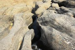 Klein meer tussen rotsen in hatta Stock Afbeeldingen