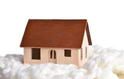 Klein model van een blokhuis royalty-vrije stock afbeelding