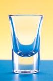 Klein ontsproten glas Stock Foto