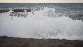 Klein onweer op de kust van de Zwarte Zee Royalty-vrije Stock Foto