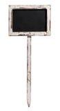 Klein oud bord op een houten staak Royalty-vrije Stock Foto's