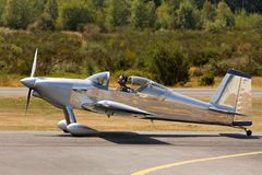 Klein privé experimenteel vliegtuig royalty-vrije stock fotografie