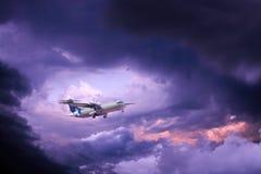 Klein privé vliegtuig stock afbeelding