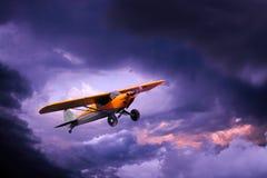 Klein privé vliegtuig stock foto