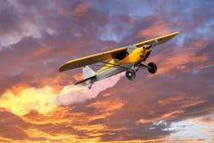 Klein privé vliegtuig royalty-vrije stock afbeelding