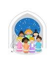 Klein refrein van engelen Royalty-vrije Stock Afbeeldingen