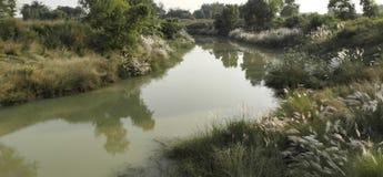 Klein Rivier West-Bengalen India Kleine rivier royalty-vrije stock foto's