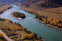 Klein riviereiland stock fotografie