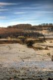 Klein Roemeens Landbouwbedrijf bij de Winter Stock Foto