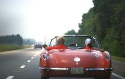 Klein Rood Chevrolet-Korvet 1960 stock fotografie