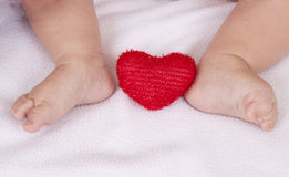 Klein rood hart Stock Foto