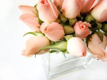 Klein roze rozenboeket stock afbeeldingen