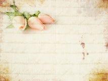 Klein roze rozenboeket stock foto