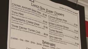 Klein stadsdiner menu stock footage