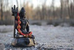 Klein standbeeld van Lord Shiva royalty-vrije stock fotografie