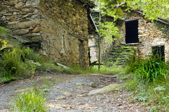 Klein steenachtig dorp Stock Afbeelding