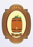 Klein vat met wijn Royalty-vrije Stock Afbeeldingen