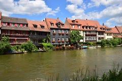 Klein Venedig i Bamberg, Tyskland Arkivfoto